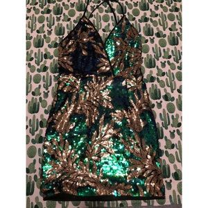 Fully Sequined Mini Dress NWOT *Runs Small*